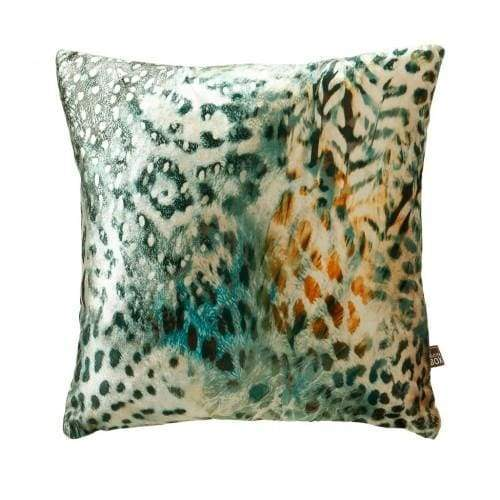 ScatterBox Tigerlily Green/Ochre Cushion - 43cm x 43cm