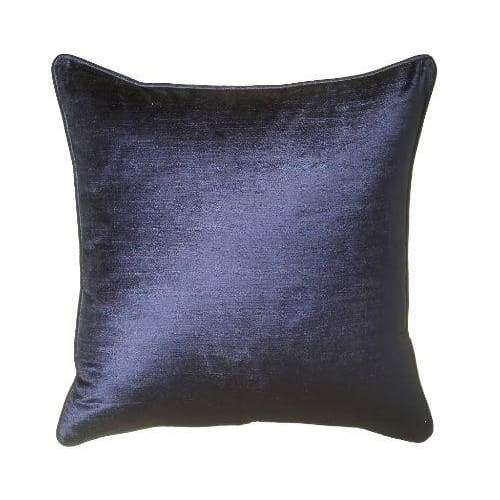 ScatterBox Velvet Sheen Duo Navy/Stone Cushion - 45cm