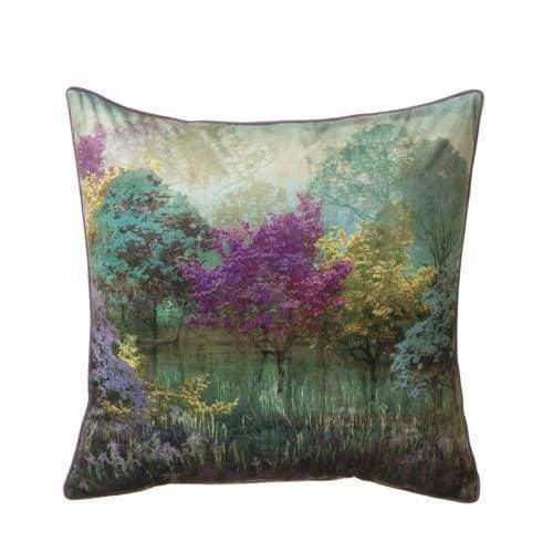 ScatterBox Whisper Floral Effect Purple & Turquoise Cushion - 45cm x 45cm