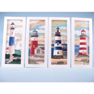 Seaside Scenes Lighthouse Glass Plaque (Priced Individually) - Home Decor - Plaque