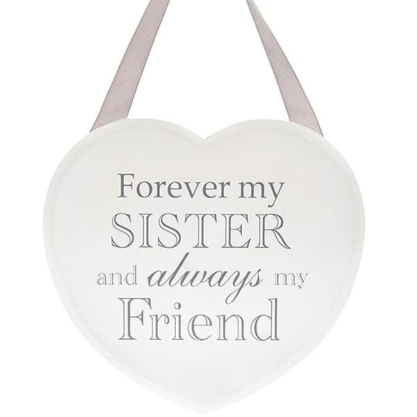 Shabby chic heart - Forever my Sister and always my Friend