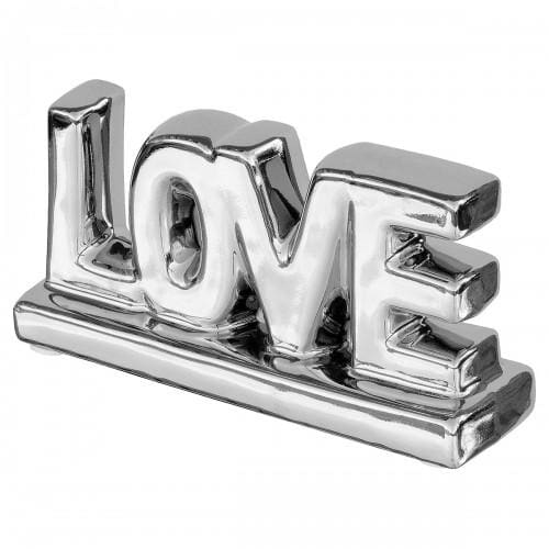 Silver Ceramic Little Love Letter Sculpture - Home - Ornaments