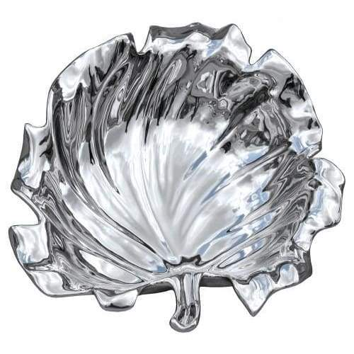 Silver Ceramic Lotus Leaf Bowl - Home - Ornaments