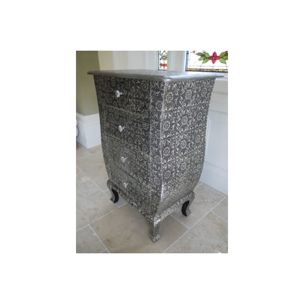 Silver Embossed Chest Of Drawers