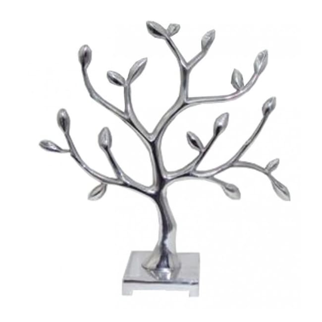 Silver Metal Tree Sculpture