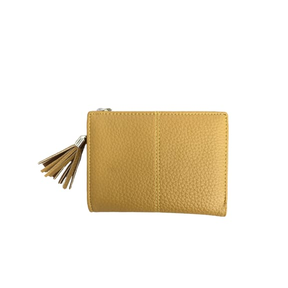 Small Faux Leather Purse in Mustard by Peace of Mind