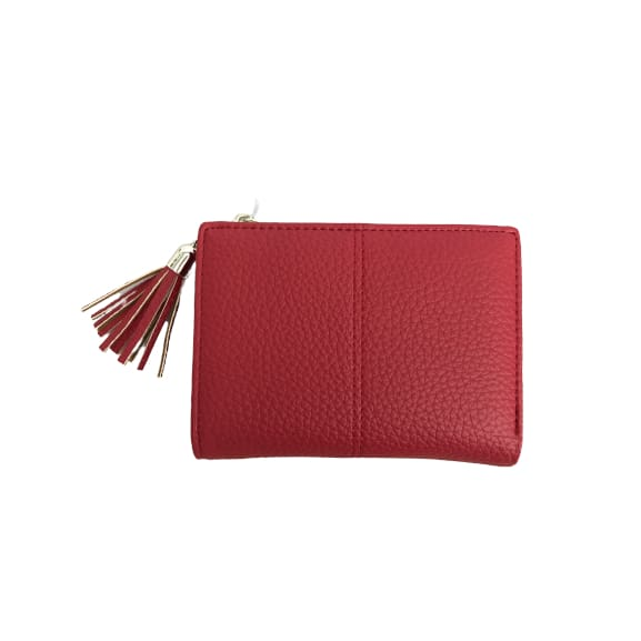 Small Faux Leather Purse in Red by Peace of Mind