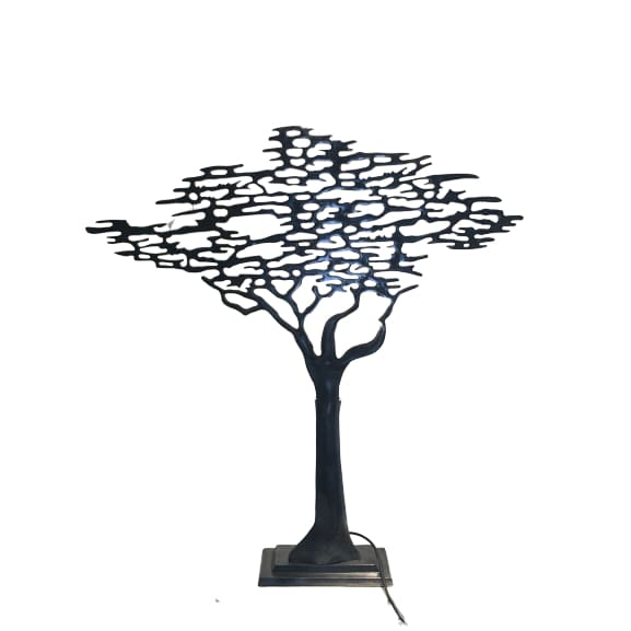 Small Tree Of Life Lamp - Oxidised Pewter Please contact the store for on-line orders to find out shipping cost