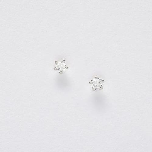 Snowman Happy Christmas Silver Cubic Zirconia Star Earrings On Designer Card by Crumble and Core