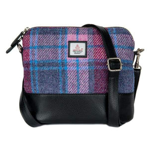 Square Shoulder Bag - Pastel Pink Harris Tweed