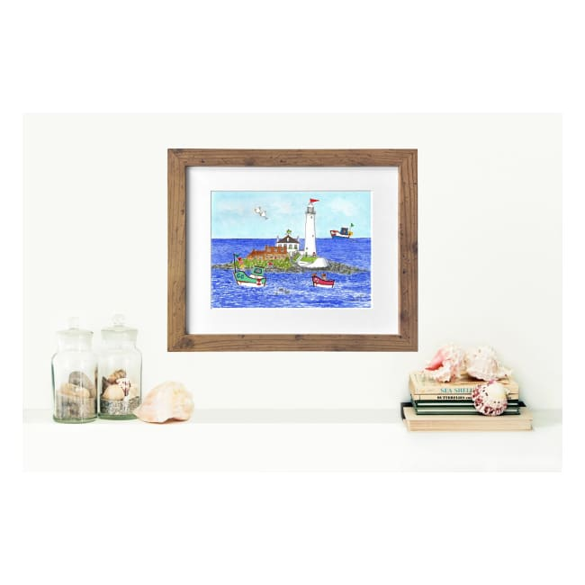 St Mary's Lighthouse Prints by Zoe Emma Scott