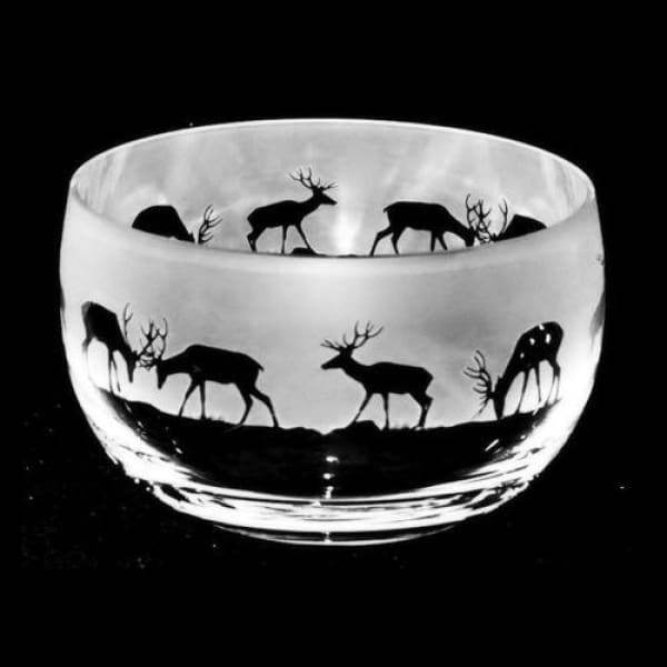 Stag Small Glass Bowl