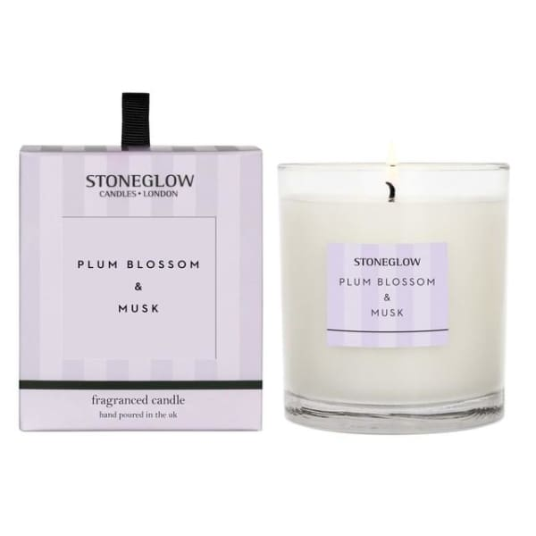 Stoneglow - Plum Blossom and Musk Candle - candle