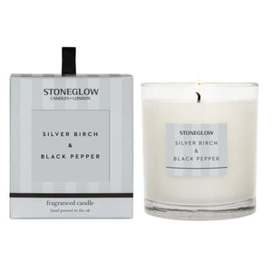 Stoneglow - Silver Birch and Black Pepper Candle - Candle