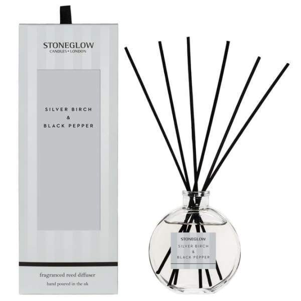 Stoneglow - Silver Birch and Black Pepper Reed Diffuser - Home - Diffuser