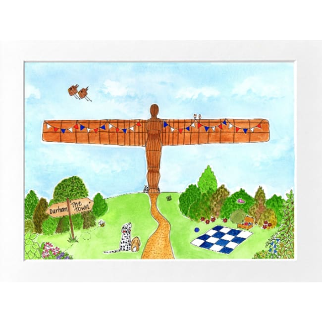 "The Angel Of The North Print (10""x8"") by Zoe Emma Scott"