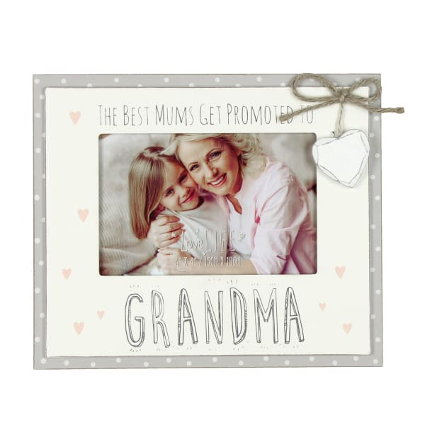 "The Best Mums Get Promoted To Grandma 6"" x 4""Photo Frame"