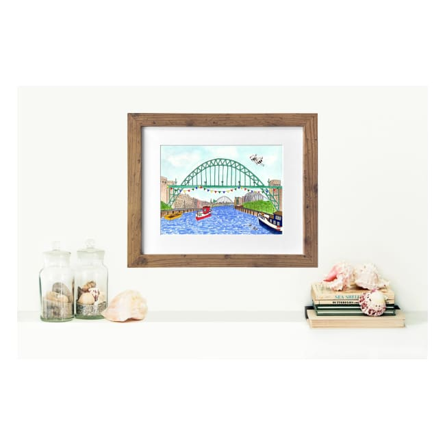 "The Tyne Bridge Newcastle Print (16""x12"") by Zoe Emma Scott"