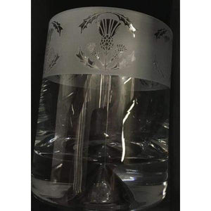 Milford Whisky Tumbler Glasses - Thistle - Gift - Glasses