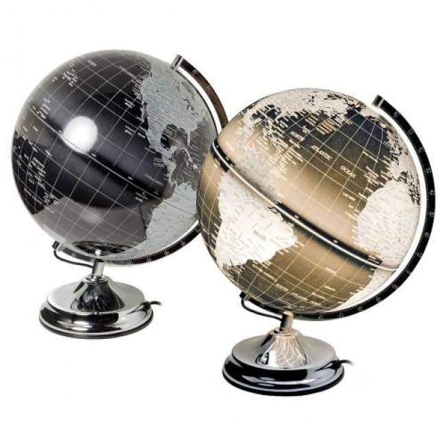 Touch Sensitive Globe Black-Silver - Home - Lamp