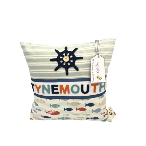 Tymenouth Cushion Small - Wheel and Fish Design