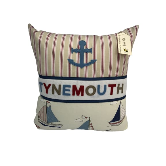 Tynemouth Cushion Large - Anchor and Boats Design
