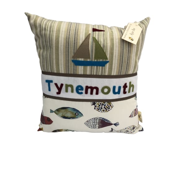 Tynemouth Cushion Large - Boat and Fish Design