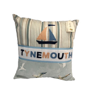 Tynemouth Cushion Large - Boat & Birds Design