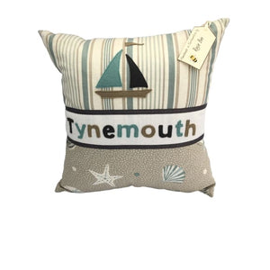 Tynemouth Cushion Large - Neutral colour waves