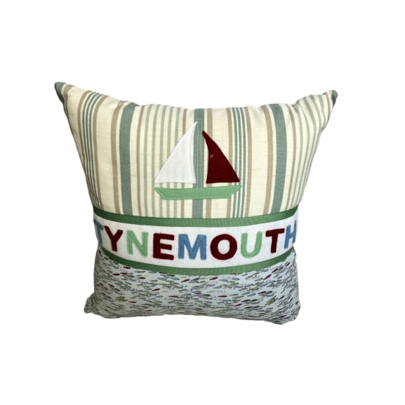 Tynemouth Cushion Small - Boat and fish design