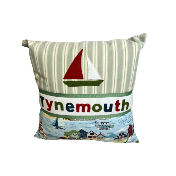 Tynemouth Cushion Small - Boat and Seaside design