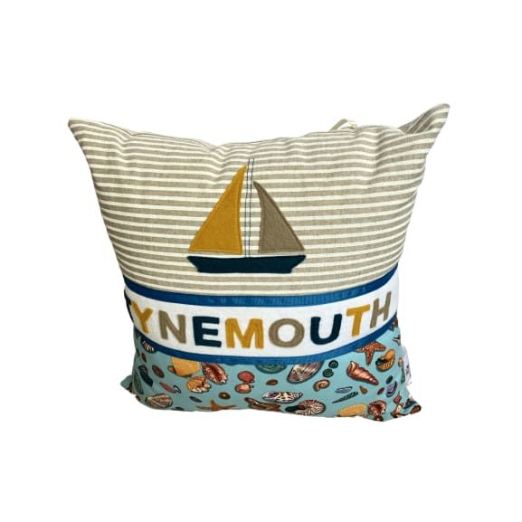 Tynemouth Cushion Small - Boat and Shell Design