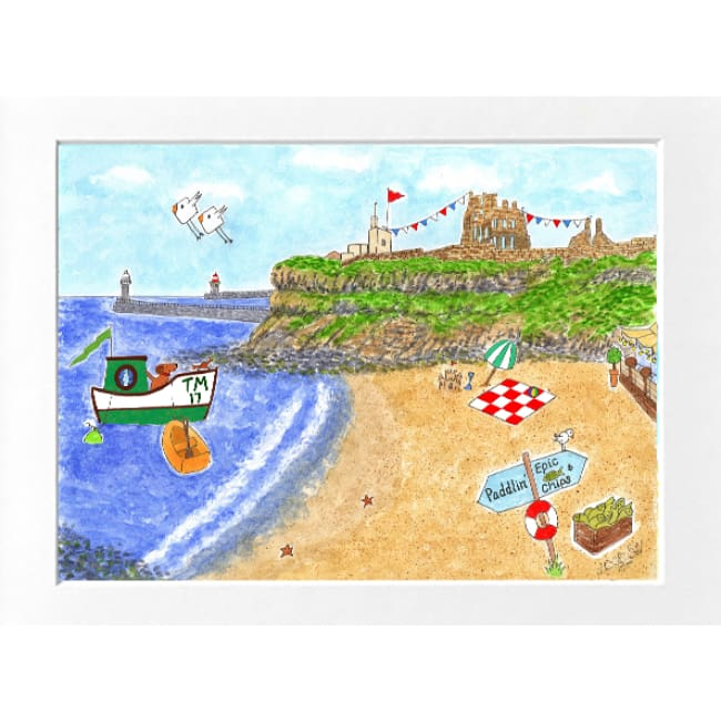"Tynemouth Print (16""x12"") by Zoe Emma Scott"
