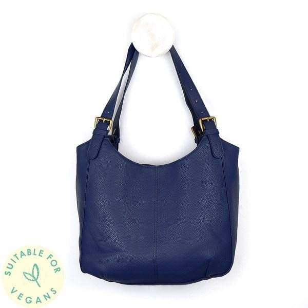 Vegan Leather shoulder bag in Royal Blue by Peace of Mind