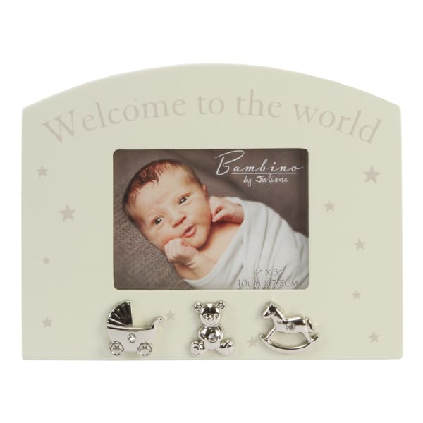 "Welcome to the world 4"" x 3"" Photo Frame By Bambino"
