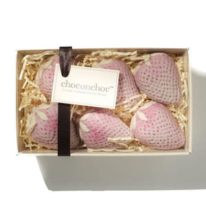 White Belgian Chocolate Strawberry Punnet