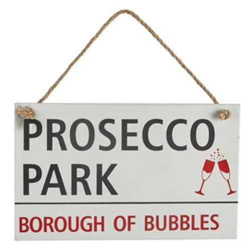 Wooden Prosecco Park Sign