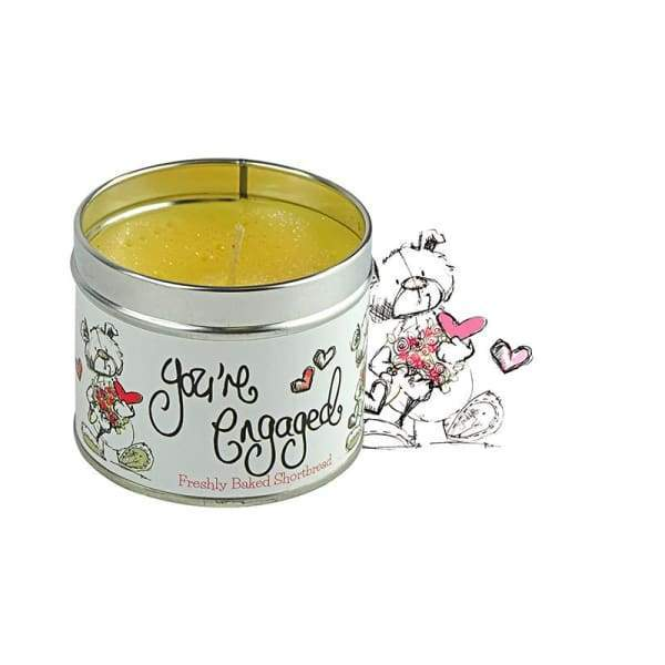 Your'e Engaged candle in a tin