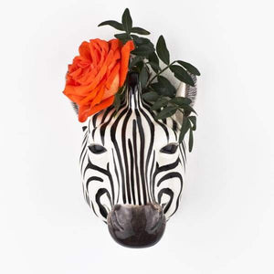 Zebra Ceramic Wall Vase By Quail Ceramics