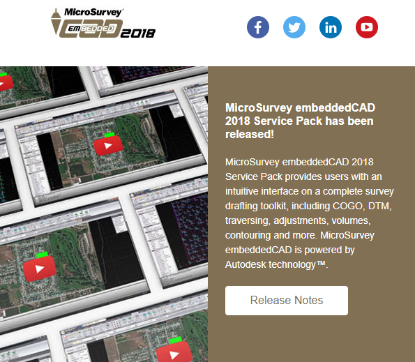 MicroSurvey embeddedCAD 2018 Service Pack has been released