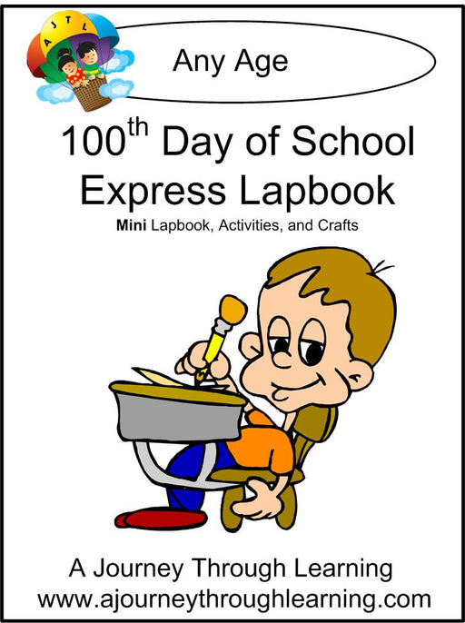 100 th Day of School Express Lapbook - A Journey Through Learning Lapbooks