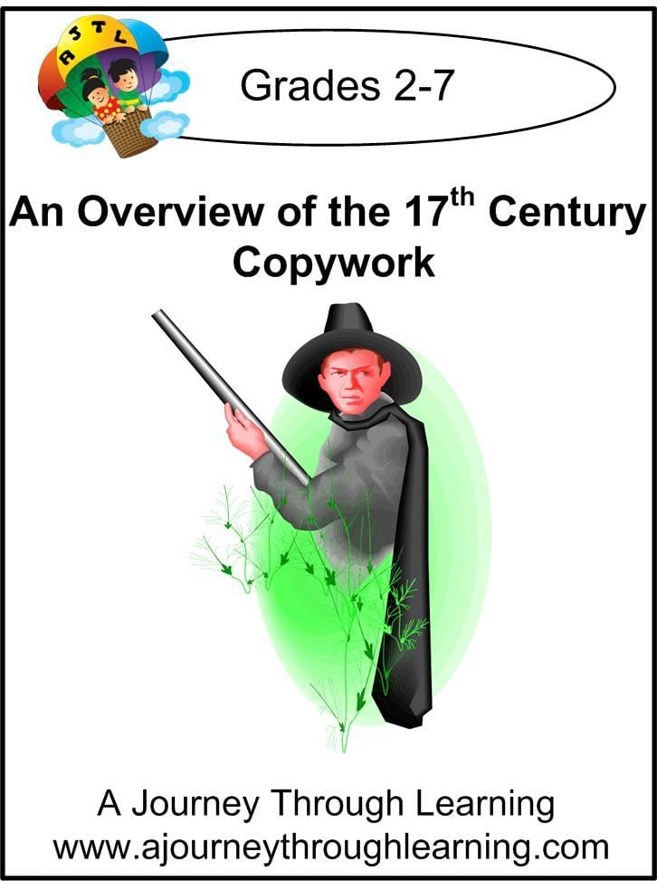 An Overview of the 17th Century Copywork (printed letters) - A Journey Through Learning Lapbooks