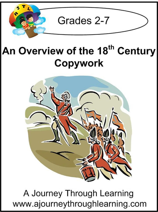 An Overview of the 18th Century Copywork (printed letters) - A Journey Through Learning Lapbooks