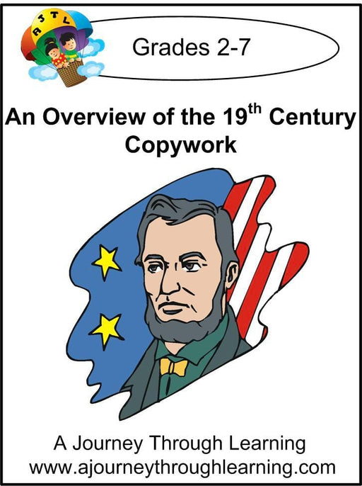 An Overview of the 19th Century Copywork (printed letters) - A Journey Through Learning Lapbooks