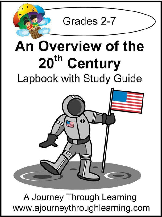 Overview of the 20th Century Lapbook with Study Guide | A Journey Through Learning Lapbooks