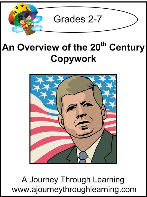 An Overview of the 20th Century Copywork (printed letters) - A Journey Through Learning Lapbooks