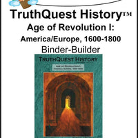 Age of Revolution Book 1 Supplements Made for TruthQuest History - A Journey Through Learning Lapbooks