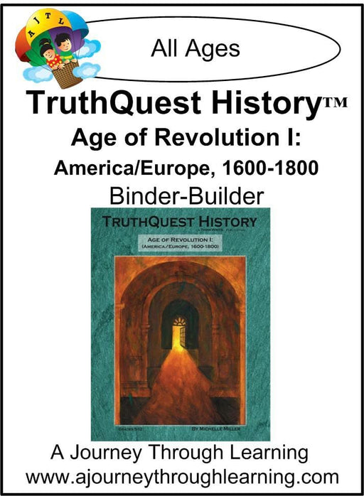 Age of Revolution Book 1 Supplements $13-$18 - A Journey Through Learning Lapbooks