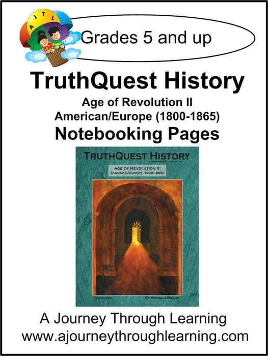 Age of Revolution Book 2 Notebooking Pages | A Journey Through Learning Lapbooks
