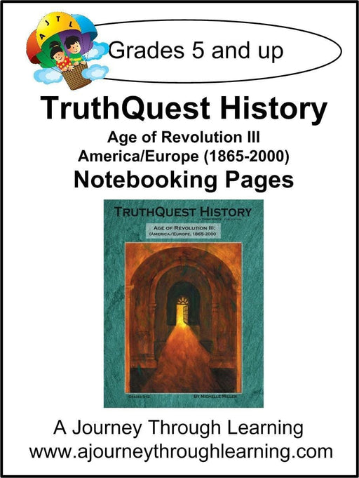 Age of Revolution Book 3 Notebooking Pages - A Journey Through Learning Lapbooks